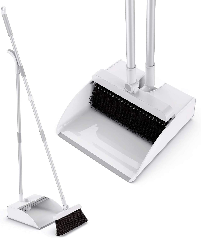 Tencoz Cepillo y Recogedor, Escoba y Recogedor Plegable Juego de Escoba, Broom and Dustpan Recogedor de Polvo con 45