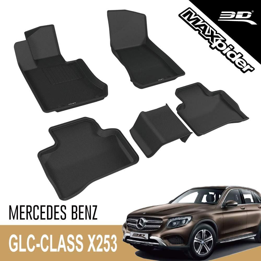 3d Maxpider Mercedes Benz Glc Klasse Geländewagen X253 2016 2020 Passgenaue Allwetter Fußmatten Gummi Auto Matten Fussmatten Gummimatten Kagu Serien 1 Und 2 Reihe Schwarz Auto