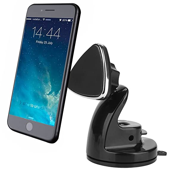 Magnetic Cell Phone Mount >> Novoland Universal Magnetic Cell Phone Stand Mount Holder For Car Dashboard Windshield Strong Magnet Sticky Suction Cup 360 Rotation For Iphone X 8 7
