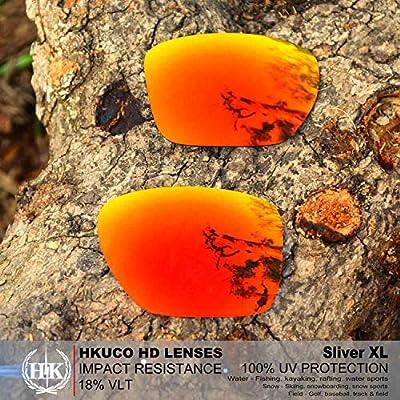 HKUCO Lentes de Repuesto para Oakley Sliver XL Rojo/Azul/Negro/Oro ...