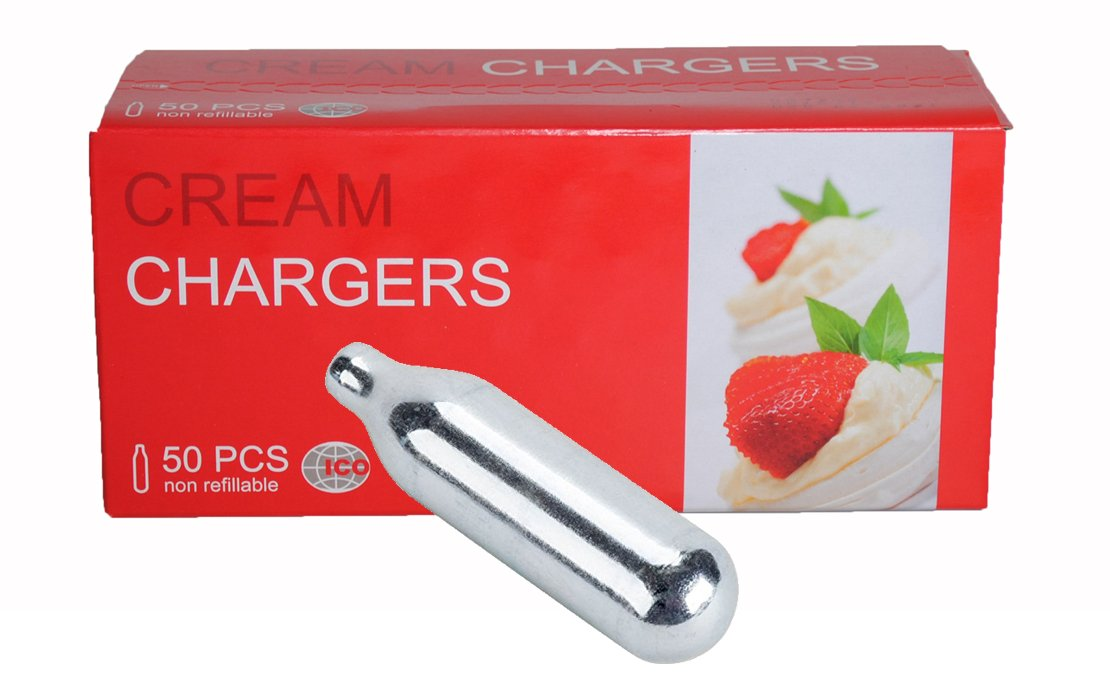 ICO Ultra Pure Whip It Cream Chargers Whippers Nitrous - 50 Pack