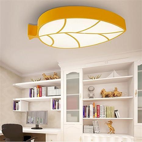 DengWu Lámpara de techo Hojas personalizadas de color la ...