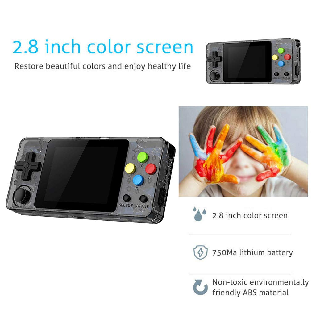 New LDK Game Handheld Gaming Console, Retro Portable Gaming System Handheld Game Console Kids Adults Screen by 2.6 Thumbs Mini Palm Nostalgia Console Children of Family TV Video (2.7 -inch, Gray) by Huangou (Image #5)