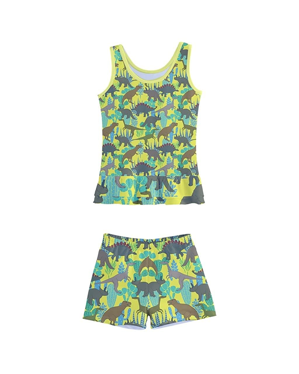 3f60559b2d010 Amazon.com: PattyCandy Little Girls Boyleg Swimsuit Set Dinosaur Style GRR  Patterns Little Kids Beach Wear, Size 2-16: Clothing