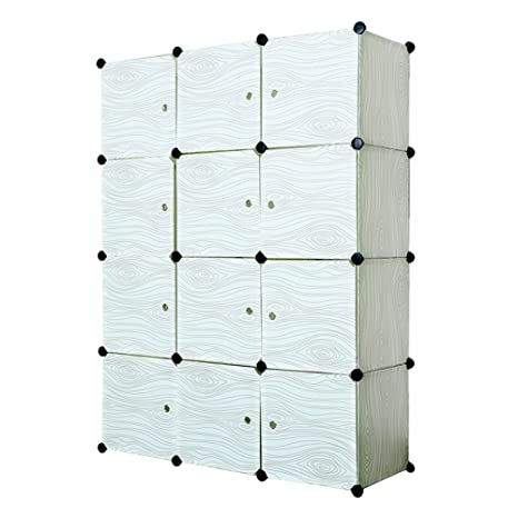 12 Cube Closet Organizer,Storage Cabinet Garage Storage Racks Sets, Shelf  Cabinet, Panels