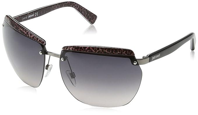 Just Cavalli - Gafas de sol Aviador JC503S, Black & Dark ...