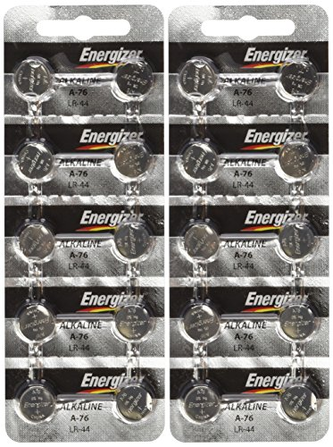 "Price comparison product image Energizer LR44 1.5V Button Cell Battery 20 pack (Replaces: LR44, CR44, SR44, 357, SR44W, AG13, G13, A76, A-76, PX76, 675, 1166a, LR44H, V13GA, GP76A, L1154, RW82B, EPX76, SR44SW, 303, SR44, S303, S357, SP303, SR44SW) ""Energizer Brand Name Batteries"""