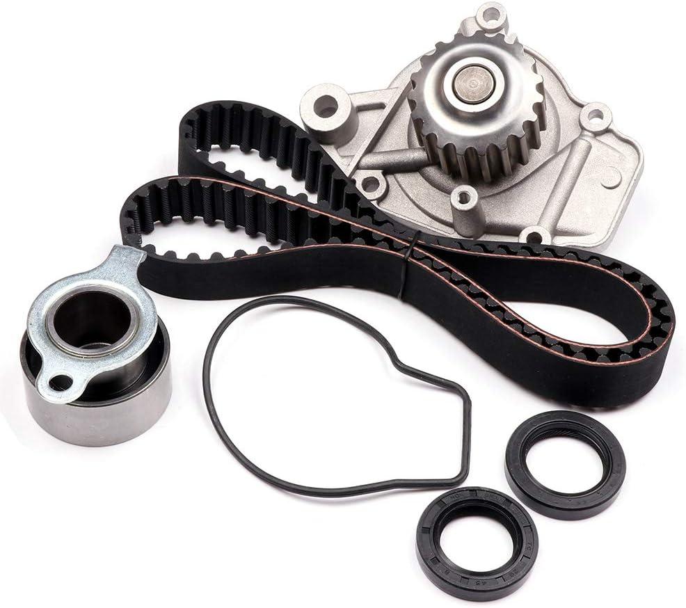 AUTOMUTO Timing Belt Kit TBK143-GMB WP4026 VC4026 HS9123PT-2 HS9123PT HS9123PT-1 Compatible for 1988-1995 Honda Civic 1993-1995 Honda Civic del Sol 1988-1991 Honda CRX