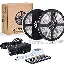10M LED TV Retroilluminazione RGB Striscia, ESEYE 5050 Autoadesiva LED Strisce Impermeabile Flessibile/Accorciabile/Divisibile/Collegabile 24W 10 Metri di Luci Colorate Decorative Da Esterno