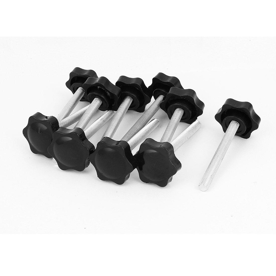 filettatura con impugnatura di bloccaggio M8 x 70 mm 10 pezzi sourcingmap/®-Pomello zigrinato in plastica colore: nero