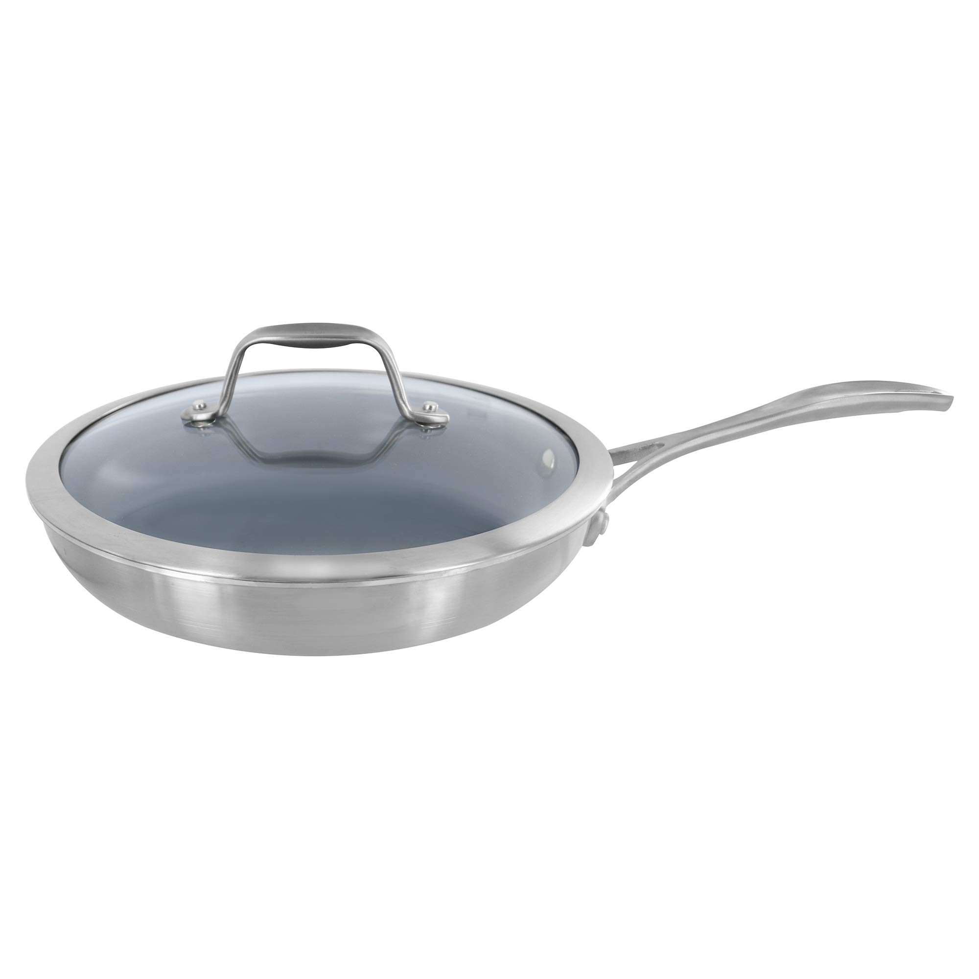 Zwilling J.A. Henckels Spirit 9.5-inch Stainless Steel Ceramic Nonstick Skillet with Lid