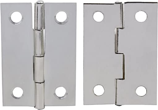 Wimas 30Pcs 5,1/cm pieghevole Butt cerniere in acciaio INOX casa mobili Hardware cabinet cerniere con 120PCS viti
