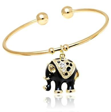 Amazoncom Elephant Jewelry Bracelet India Style Gold Fashion