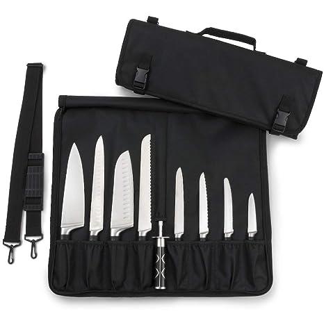 La bolsa del cuchillo para chef está acolchada y tiene 8 ...