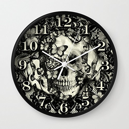 Society6 Victorian Gothic Wall Clock Black Frame, White Hands