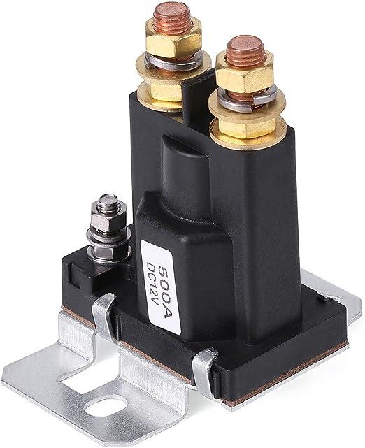 500A DC 12V Alta Corrente Solenoide Auto Starter Rel/è 4 pin SPST Start Contattore Doppio Batterie Sezionatore di Controllo Interruttore On//Off