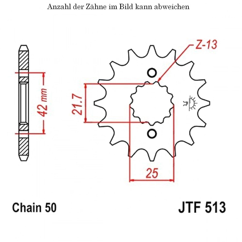 jt Sprockets Ritzel 14 Z/ähne FZR 600 N Genesis 1989-1993 JTF513.14