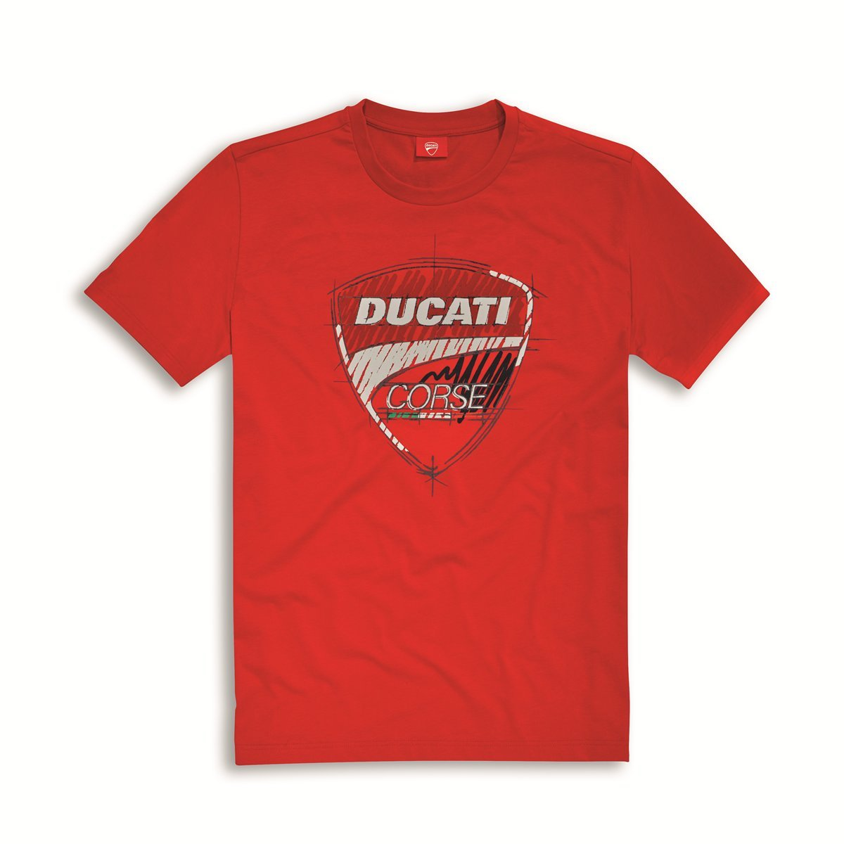 Ducati Corse Sketch T-shirt Red Size Large