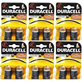 Duracell C Size Alkaline Plus Battery - Alkaline - 1.5V DC - 12 Batteries (6 X 2 Count Packs)