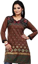 Unifiedclothes Women Fashion Casual Indian Short Kurti Tunic Kurta Top Shirt Dress ECCO08
