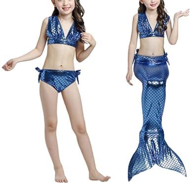 YOGLY Sirena de Las Niñas Traje de Baño Swimsuit Bikini ...