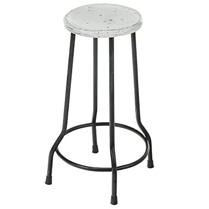 Amazoncom Farmhouse 26 In Bar Stool White Home Kitchen