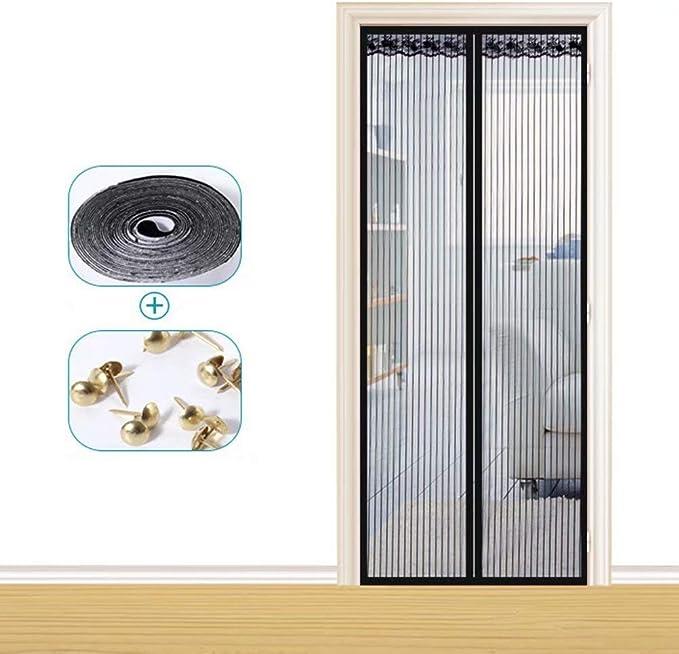 YANKAN - Mosquitera magnética para Puerta de salón, Cierre automático, para Puertas o Patios, Negro, 95 * 200cm: Amazon.es: Hogar