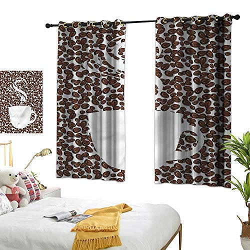 G Idle Sky Fashion Curtain Coffee Mildew-Proof Polyester Fabric Hot Cup on Arabica Beans 72