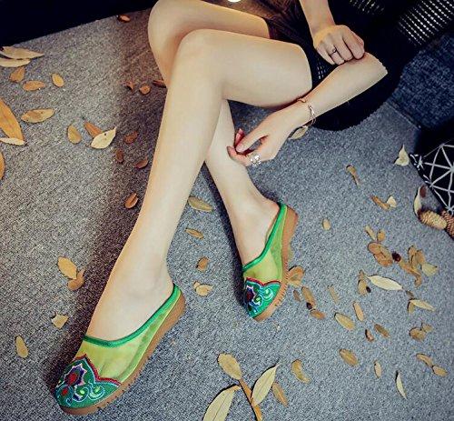 Lazutom green femme Chaussons Lazutom pour femme Chaussons pour xt4Fx