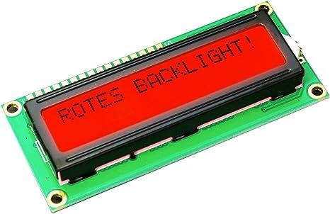 1602 16 X 2 HD44780 caracteres LCD Display Módulo BL roja para ...