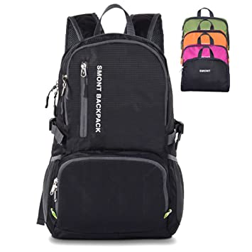 b4a622a39b28 SMONT Lightweight Packable Hiking Backpack with Back Hidden Zip Pocket for  Bladder(not Include Bladder) Perfect Daypack for Traveling Camping ...
