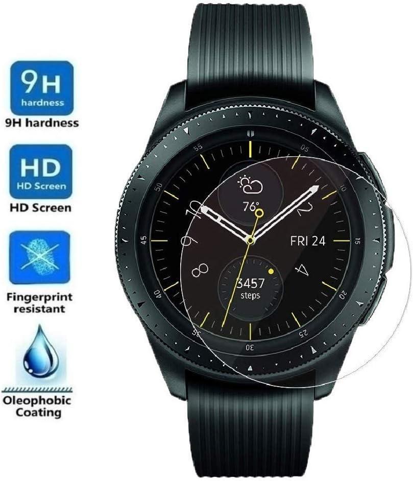 ELECTRÓNICA REY Protector de Pantalla para Samsung Galaxy Watch 42mm 2018, Cristal Vidrio Templado Premium