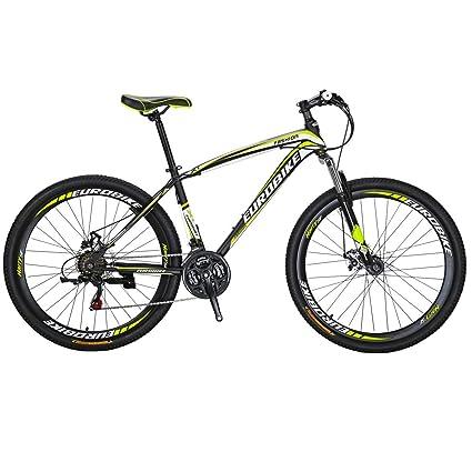 ab0fee5cd14 Eurobike X1 Mountain Bike 21 Speed MTB Bicycle 26 Inch Wheels Dual Disc  Brake Suspension Fork