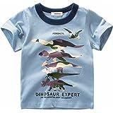 2Bunnies Little Boys Toddler Dinosaur T Rex Short Sleeve Tee T Shirt