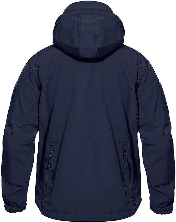 MAGCOMSEN Veste polaire dhiver imperm/éable pour homme avec capuche