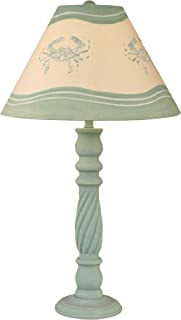 product image for Coast Lamp Weathered Shaded Cove Swirl Table Lamp with Crab Shade