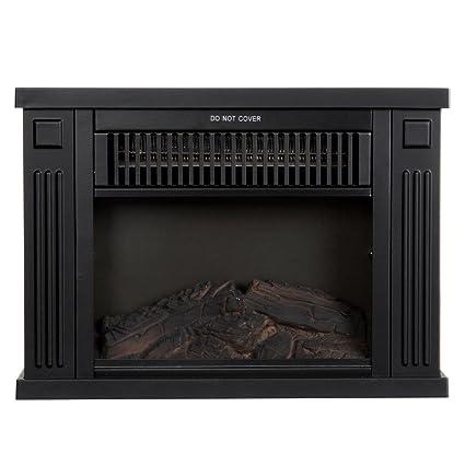 Northwest 80 EF480 B Portable Mini Electric Fireplace Heater, 13u0026quot;, ...