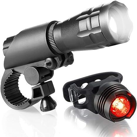ZOUQILAI Juego de Luces LED para Bicicletas Potentes Luces ...