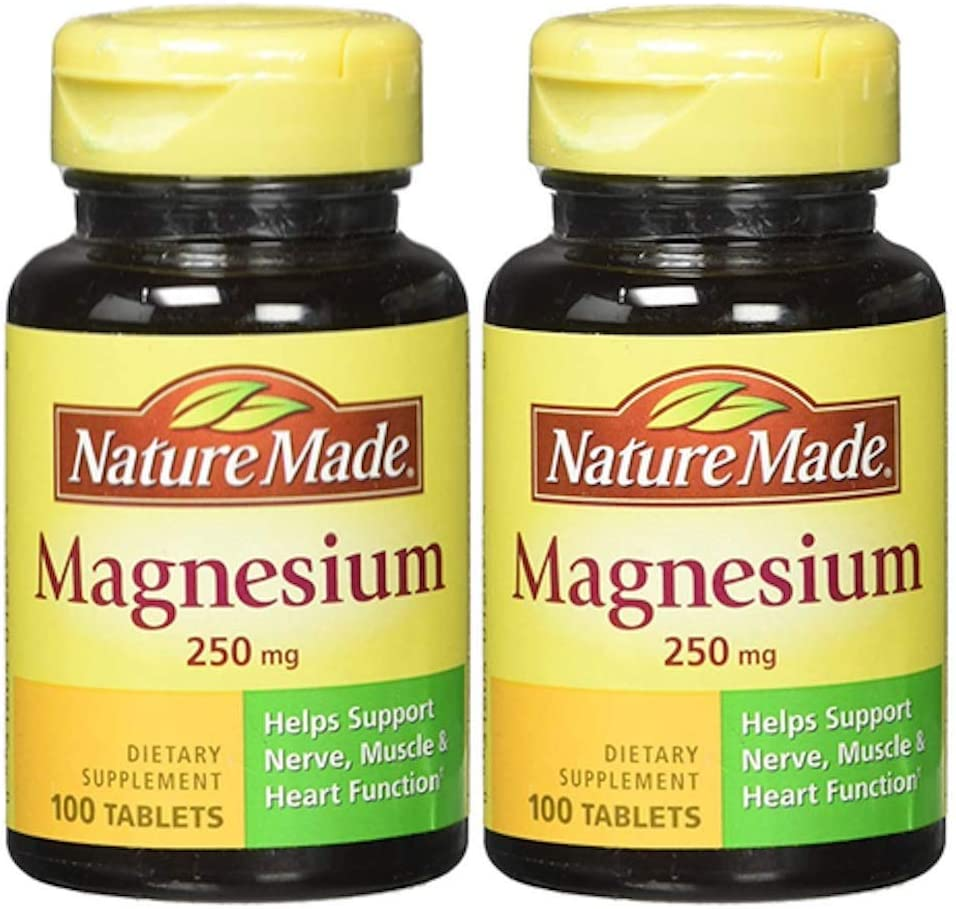 Nature Made Magnesium 250mg, 100Count (twin pack)