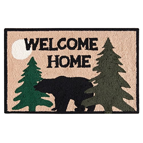 C&F Home Hooked Welcome Home Rustic Rug, Tan