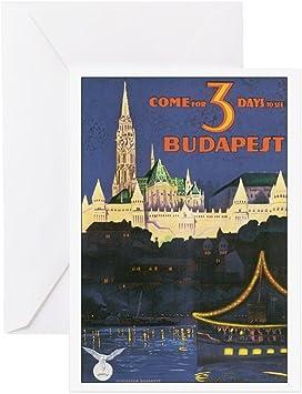 Budapest blank greetings card