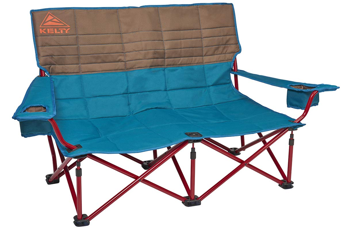 Kelty Low-Love Seat Camping Chair, Deep Lake/Fallen Rock - Portable, Folding Chair for Festivals, Camping and Beach Days - Updated 2019 Model by Kelty