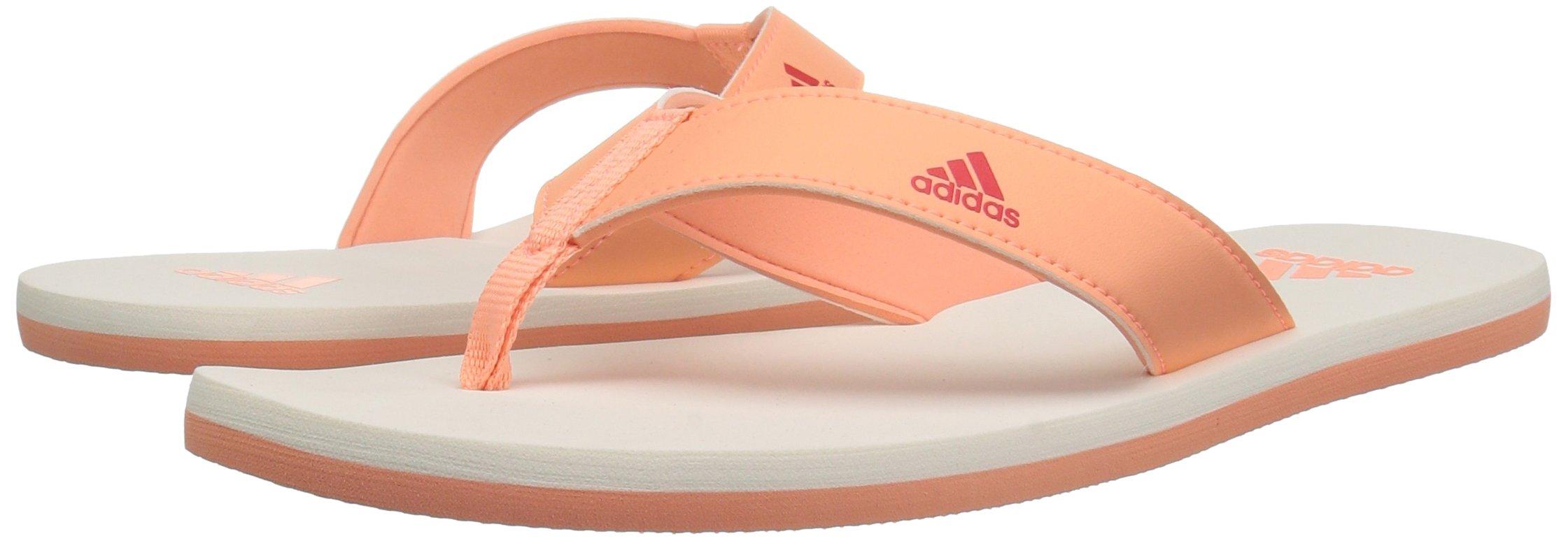adidas Performance Unisex-Kids Beach Thong 2 K, White/Hi-Res Blue/White, 13 M US Little Kid by adidas (Image #6)