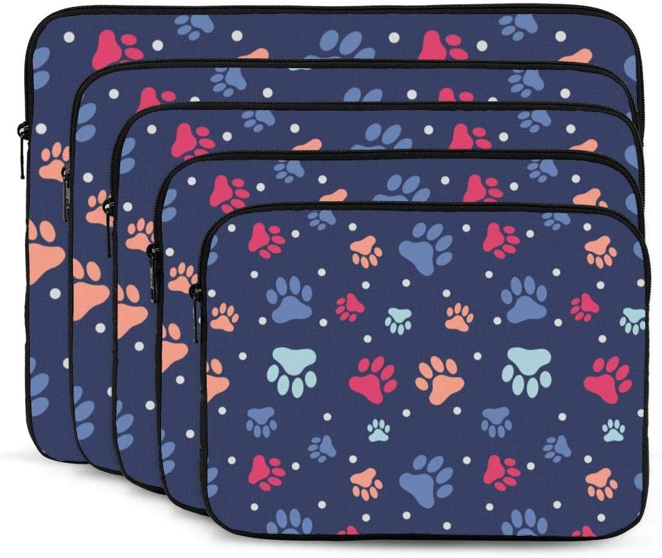 Laptop Case,10-17 Inch Laptop Sleeve Case Protective Bag,Notebook Carrying Case Handbag for MacBook Pro Dell Lenovo HP Asus Acer Samsung Sony Chromebook Computer,Colorful Paw 15 inch