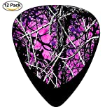 Muddy Girl Camo pink Celluloid Guitar Picks Unique Music Gifts