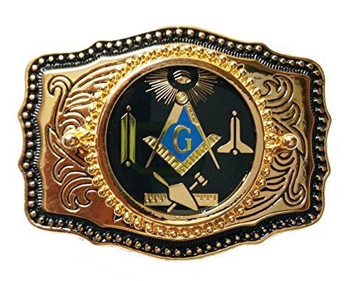 Black Working Tools Square and Compasses Masonic Belt Buckle Made in USA - Mason Belt Buckle