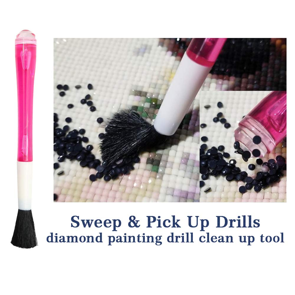 Diamond Painting Drill Clean-up Tool Sweep /& Pick up Drills Apply to Full Drill /& Partial Drill Painting with Diamond Kits for Adults