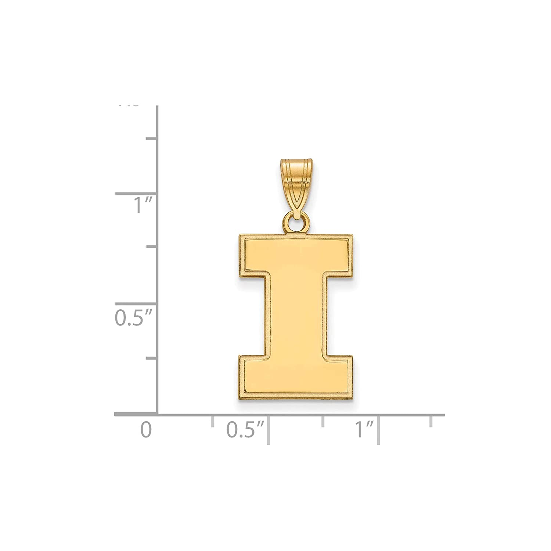 Kira Riley Gold Plated University of Illinois Large Pendant