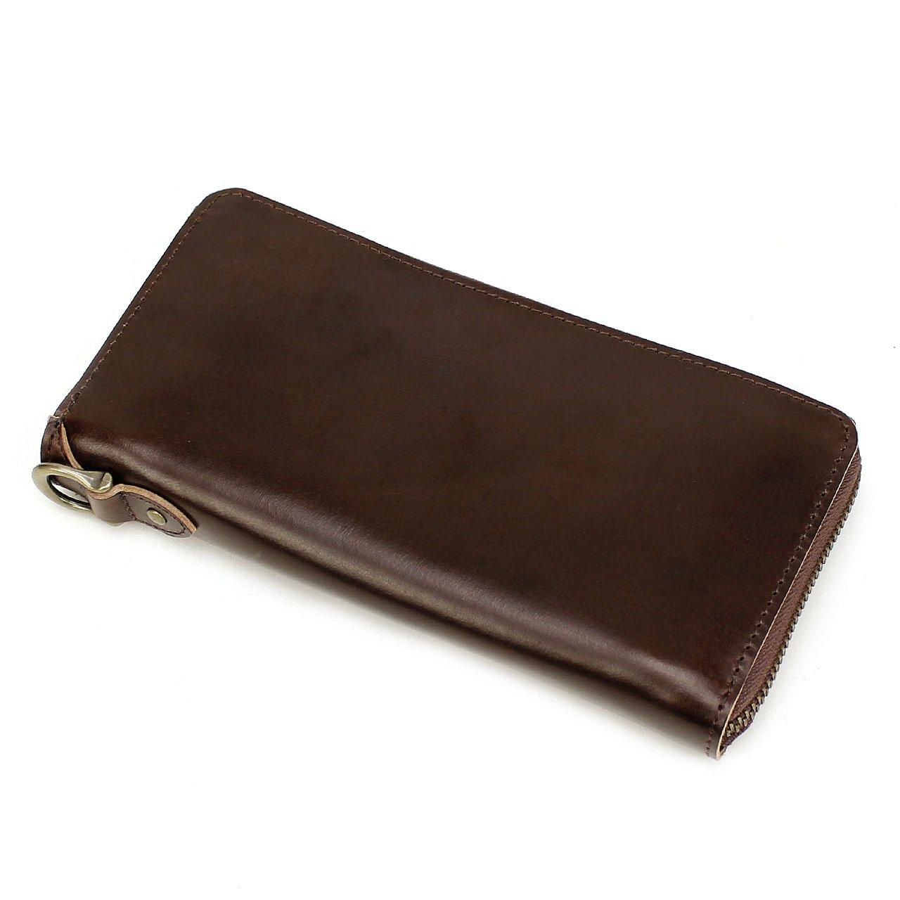 AVIREX BEIDE SERIES アヴィレックス バイドシリーズ ラウンドファスナー長財布 小銭入れあり AVX1806 B01N31G9KG チョコ