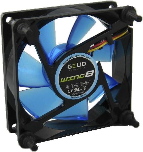Gelid Solutions 80mm Gamer fan-2000RPM 21 dBA UV Blue